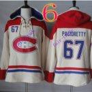 montreal canadiens #67 Max Pacioretty White hoodie Hockey Hooded Sweatshirt Jerseys