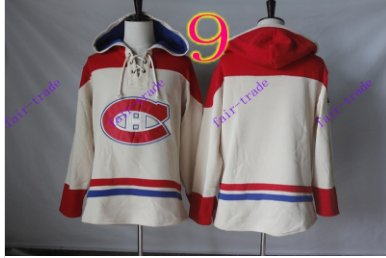 montreal canadiens White hoodie Hockey Hooded Sweatshirt Jerseys