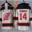 new jersey devils #14 adam henrique White hoodie Hockey Hooded Sweatshirt Jerseys