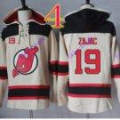 new jersey devils #19 Travis Zajac White hoodie Hockey Hooded Sweatshirt Jerseys