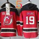 new jersey devils #19 Travis Zajac Red hoodie Hockey Hooded Sweatshirt Jerseys