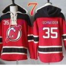 new jersey devils #35 Cory Schneider Red hoodie Hockey Hooded Sweatshirt Jerseys