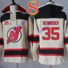 new jersey devils #35 Cory Schneider White hoodie Hockey Hooded Sweatshirt Jerseys