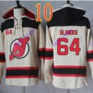 new jersey devils #64 Joseph Blandisi White hoodie Hockey Hooded Sweatshirt Jerseys