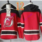 new jersey devils Red hoodie Hockey Hooded Sweatshirt Jerseys