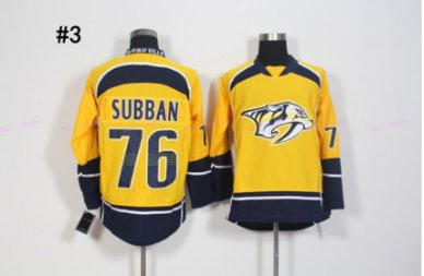 Nashville Predators #76 P.K Subban Yellow 2016 Hockey Jerseys Ice Winter All Stitched