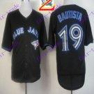 2016 Majestic Official Stitched 40th Toronto Blue Jays #19 jose bautista Black Jerseys