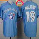2016 Majestic Official Stitched 40th Toronto Blue Jays #19 jose bautista Light Blue Jerseys