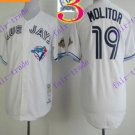 2016 Majestic Official Stitched 40th Toronto Blue Jays #19 jose bautista White Jerseys Style 2