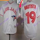 2016 Majestic Official Stitched 40th Toronto Blue Jays #19 jose bautista White Jerseys Style 3
