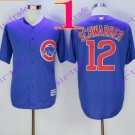 2016 Majestic Official Stitched Chicago Cubs 12 Kyle Schwarber BLue Baseball Jerseys