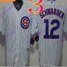 2016 Majestic Official Stitched Chicago Cubs 12 Kyle Schwarber White Baseball Jerseys