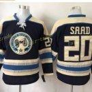 Columbus Blue Jackets #20 Brandon Saad Blue 2016 Hockey Jerseys Ice Winter Jersey All Stitched