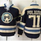 Columbus Blue Jackets #71 Nick Foligno Blue 2016 Hockey Jerseys Ice Winter Jersey All Stitched
