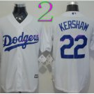 Los Angeles Dodgers Baseball Jerseys 22 Clayton Kershaw Jersey White Style 1