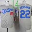 Los Angeles Dodgers Baseball Jerseys 22 Clayton Kershaw Jersey Grey Style 3
