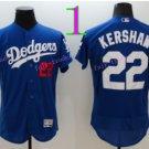 Los Angeles Dodgers Baseball Jerseys 22 Clayton Kershaw Jersey Blue Style 3