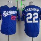 Los Angeles Dodgers Baseball Jerseys 22 Clayton Kershaw Jersey Blue Style 4