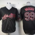 Cleveland Indians #99 Rick Vaughn 2015 Baseball Jersey Black Authentic Stitched Style 1