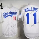 Los Angeles Dodgers #11 Jimmy Rollins White 2015 Baseball Jersey Authentic Stitched