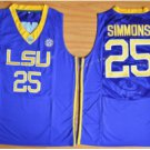 Tigers College Jerseys 2017 Fashion 25 Ben Simmons Jersey Shirt Uniforms Home Blue