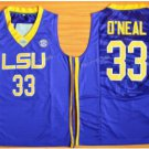 Tigers College Jerseys 2017 Fashion 33 Shaquille ONeal Jersey Shirt Uniforms Home Blue