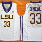 Tigers College Jerseys 2017 Fashion 33 Shaquille ONeal Jersey Shirt Uniforms Home White