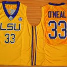 Tigers College Jerseys 2017 Fashion 33 Shaquille ONeal Jersey Shirt Uniforms Home Yellow