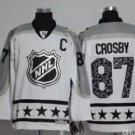 Men 2017 Hockey Jersey All Star White 87 Sidney Crosby
