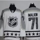 Men 2017 Hockey Jersey All Star White 71 Evgeni Malkin