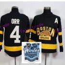 oston Bruins Ice Hockey #4 Bobby Orr Jersey Black Authentic 2017 Winter Classic Jerseys