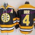 oston Bruins Ice Hockey #4 Bobby Orr Jersey Black Yellow Authentic 2017 Winter Classic Jerseys