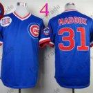Chicago Cubs Baseball Jersey 31 Greg Maddux Blue Shirt Stitched Authentic Baseball Jersey Style 1