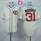Chicago Cubs Baseball Jersey 31 Greg Maddux Cream Shirt Stitched Authentic Baseball Jersey Style 3