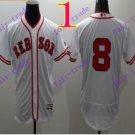 2016 Flexbase Stitched boston red sox 8 Yastrzemski White Baseball Jersey