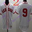 2016 Flexbase Stitched boston red sox 9 Williams White Baseball Jersey