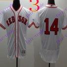 2016 Flexbase Stitched boston red sox 14 Rice White Baseball Jersey