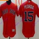 2016 Flexbase Stitched boston red sox 15 Pedroia Red Baseball Jersey