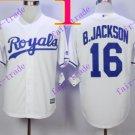 2016 Majestic Official Cool Base Stitched KC Kansas City Royals #16 Bo Jackson White