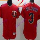 2016 Flexbase Stitched Minnesota Twins Blank 3 Killebrew Red Baseball Jersey