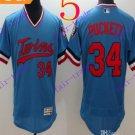 2016 Flexbase Stitched Minnesota Twins Blank 34 Puckett Blue Baseball Jersey