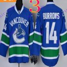 Stitched Vancouver Canucks 14 Alex Burrows Blue Hockey Jerseys Ice Jersey