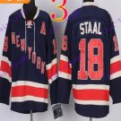 Stitched New York Rangers #18 staal Dark Blue Hockey Jerseys Ice