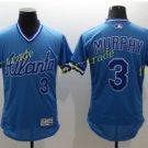 Atlanta Braves 3 Dale Murphy Jersey Cooperstown Baseball Jerseys Flexbase Cool Base Blue
