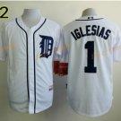 2016 #1 Jose Iglesias Jersey Stitched Detroit Tigers Baseball Jerseys Cool Base White