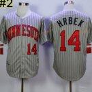 14 Kent Hrbek Jersey Minnesota Twins Flexbase Baseball Jerseys 1987 Cooperstown Grey Pinstripe