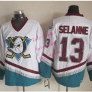 mighty ducks #13 teemu selanne 2015 Ice Winter Jersey White Hockey Jerseys Authentic Stitched