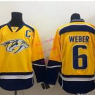predators #6 shea weber 2015 Ice Winter Yellow Hockey Jerseys Authentic Stitched