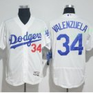 2017  Stitched Los Angeles Dodgers 34 Fernando Valenzuela White Baseball Jerseys Road Jersey Style 2