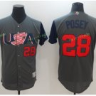 2017 USA World Baseball Classic Jersey 28 Buster Posey Grey Baseball Jerseys